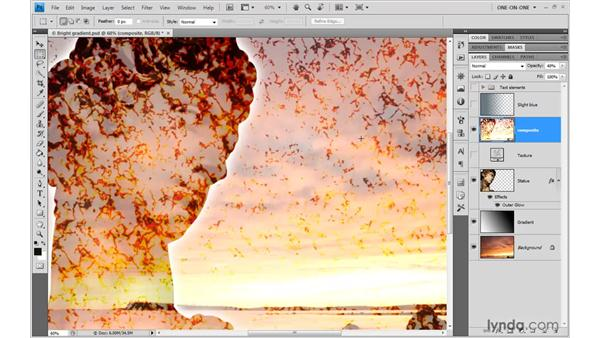Fill Opacity takes priority: Photoshop CS4 One-on-One: Advanced