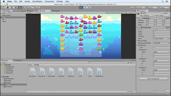 Create a new level: Build a Match 3 Game with Unity