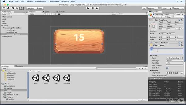 Create the HUD: Build a Match 3 Game with Unity