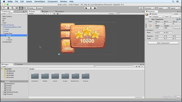Create a game over screen: Build a Match 3 Game with Unity