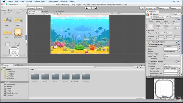 Create a level select screen: Build a Match 3 Game with Unity