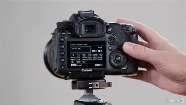 Setting up copyright metadata in-camera: Performance Tuning the Canon 7D Mark II