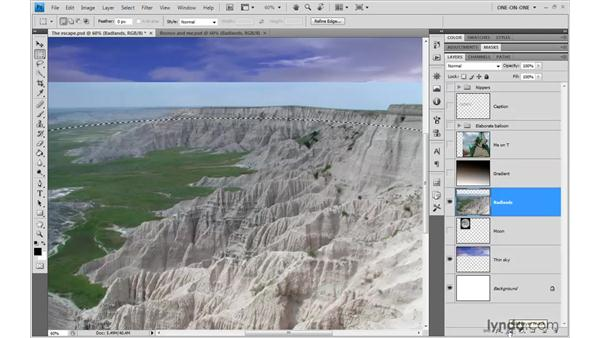 Adding a pixel mask to a layer: Photoshop CS4 One-on-One: Advanced