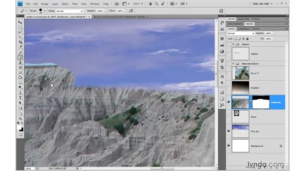 Editing a layer mask: Photoshop CS4 One-on-One: Advanced