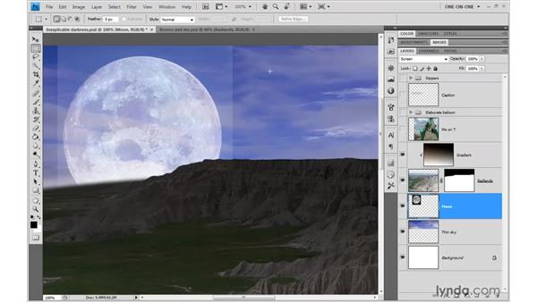 Introducing the Advanced Blending options: Photoshop CS4 One-on-One: Advanced