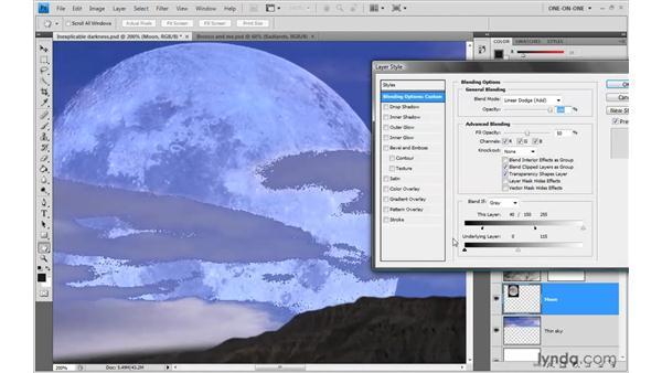 Forcing through underlying luminance: Photoshop CS4 One-on-One: Advanced