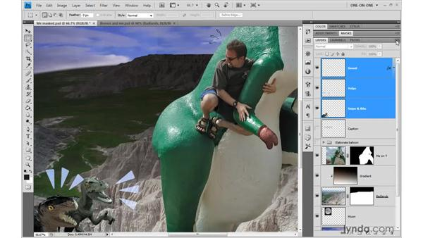 Creating and modifying a layer group: Photoshop CS4 One-on-One: Advanced