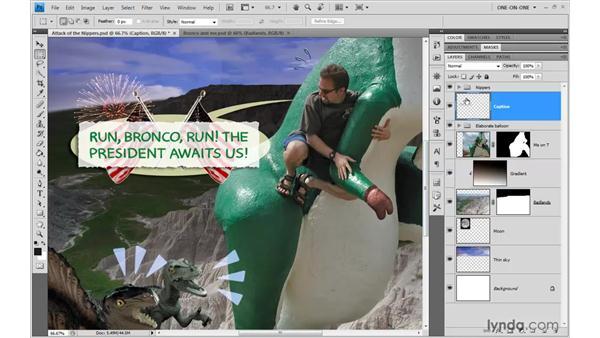 Establishing a knockout group: Photoshop CS4 One-on-One: Advanced