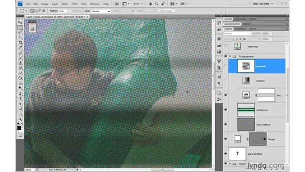 Exploring layered states: Photoshop CS4 One-on-One: Advanced