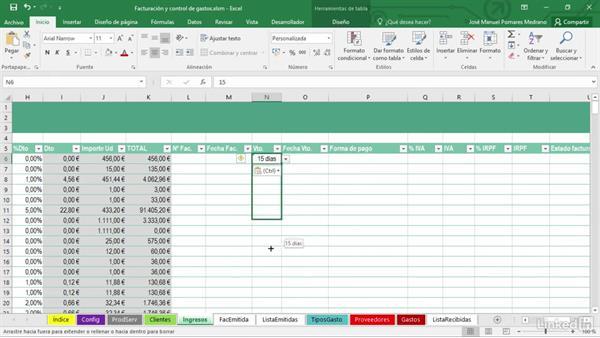 Crear la hoja de registro de ingresos con Microsoft Excel