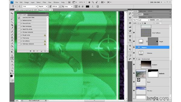 Deleting layers and updating comps: Photoshop CS4 One-on-One: Advanced