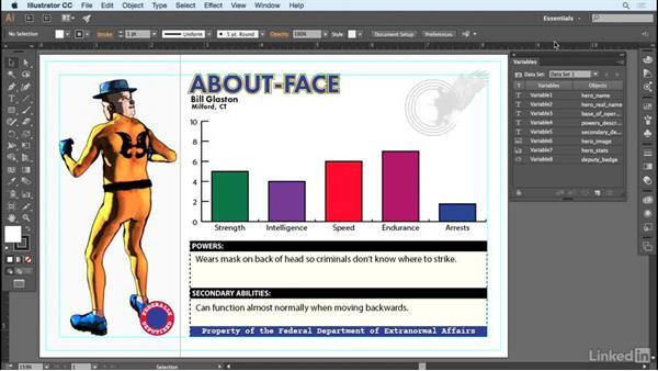Capturing data sets, exporting an XML library: Adobe Illustrator Variable Data