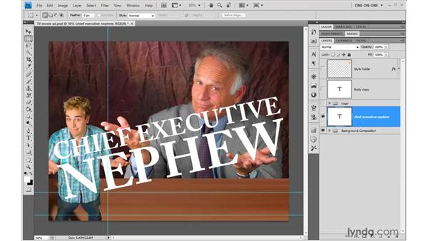 Working with vector-based text: Photoshop CS4 One-on-One: Advanced