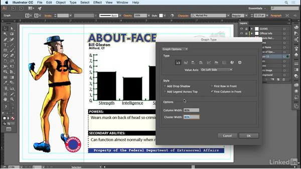 Creating a graph for variable data: Adobe Illustrator Variable Data