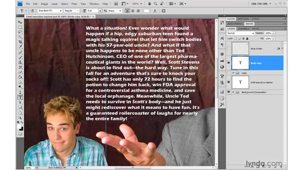 Formatting area text: Photoshop CS4 One-on-One: Advanced