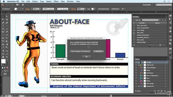 Testing and importing a CSV: Adobe Illustrator Variable Data