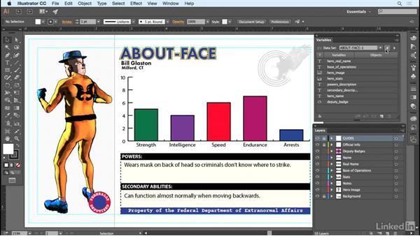 Binding imported variables manually: Adobe Illustrator Variable Data