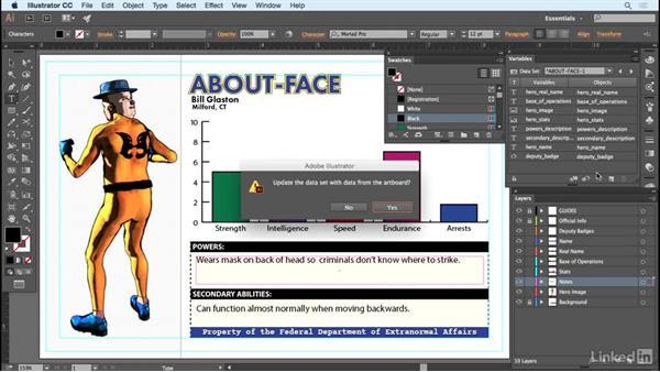 Uploading data sets: Adobe Illustrator Variable Data