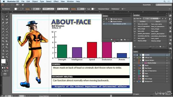 Creating a save action: Adobe Illustrator Variable Data