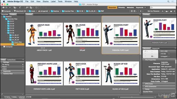Using Bridge to review files: Adobe Illustrator Variable Data