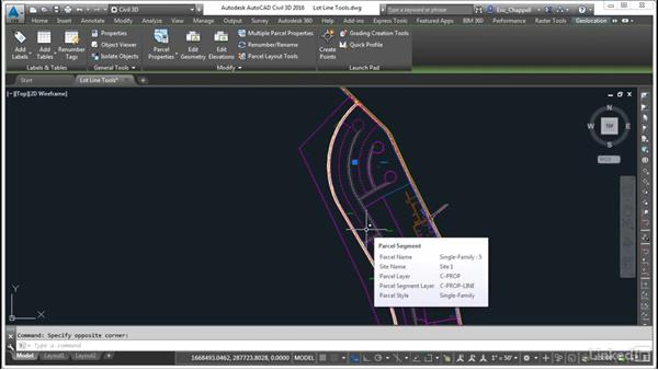 Create parcels using the lot line tools: AutoCAD Civil 3D: Designing Residential Projects