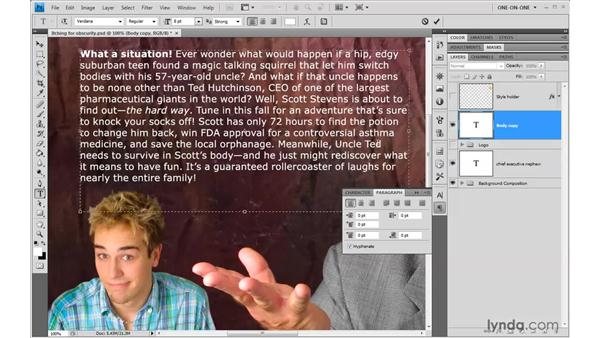 Obscure but important formatting options: Photoshop CS4 One-on-One: Advanced