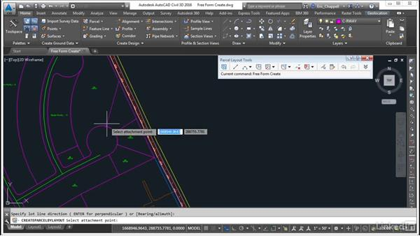 Create parcels: Free Form Create: AutoCAD Civil 3D: Designing Residential Projects