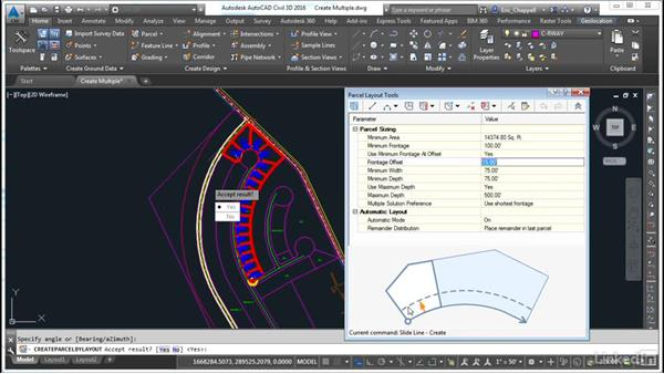 Create multiple parcels at once: AutoCAD Civil 3D: Designing Residential Projects