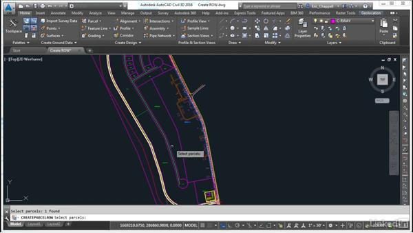 Create a right of way: AutoCAD Civil 3D: Designing Residential Projects