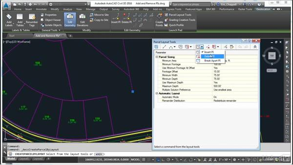 Add and remove PIs: AutoCAD Civil 3D: Designing Residential Projects
