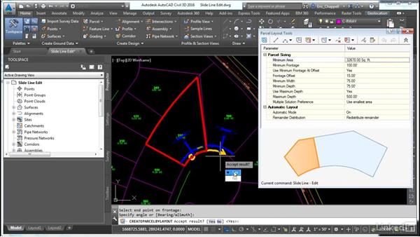 Use Slide Line Edit: AutoCAD Civil 3D: Designing Residential Projects