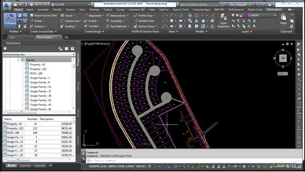 Apply parcel styles: AutoCAD Civil 3D: Designing Residential Projects