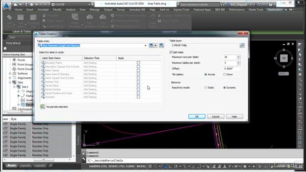 Create a parcel area table: AutoCAD Civil 3D: Designing Residential Projects