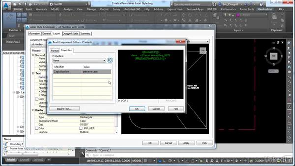 Create parcel area label styles: AutoCAD Civil 3D: Designing Residential Projects