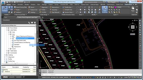 Create parcel segment label styles: AutoCAD Civil 3D: Designing Residential Projects