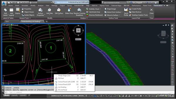 Understand lot grading: AutoCAD Civil 3D: Designing Residential Projects