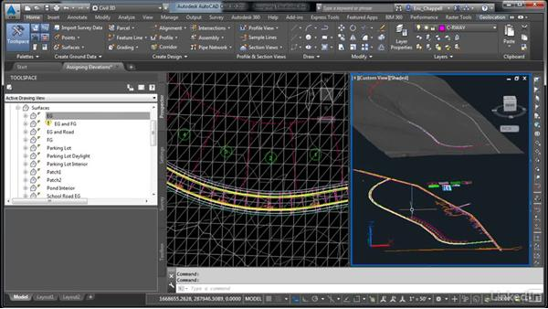 Assign elevations: AutoCAD Civil 3D: Designing Residential Projects