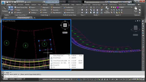 Define the building pad: AutoCAD Civil 3D: Designing Residential Projects