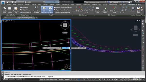 Adjust the building pad: AutoCAD Civil 3D: Designing Residential Projects