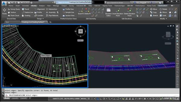 Create a lot grading surface: AutoCAD Civil 3D: Designing Residential Projects