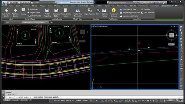 Label a lot grading surface: AutoCAD Civil 3D: Designing Residential Projects
