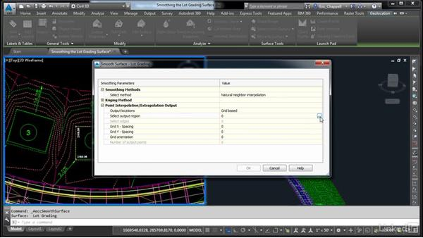 Smooth the lot grading surface: AutoCAD Civil 3D: Designing Residential Projects