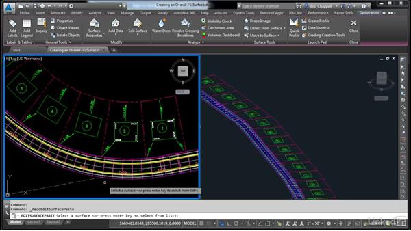 Create an overall FG surface: AutoCAD Civil 3D: Designing Residential Projects
