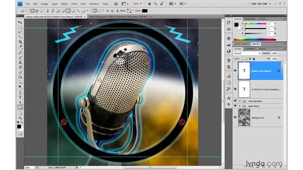 Drawing a path outline: Photoshop CS4 One-on-One: Advanced
