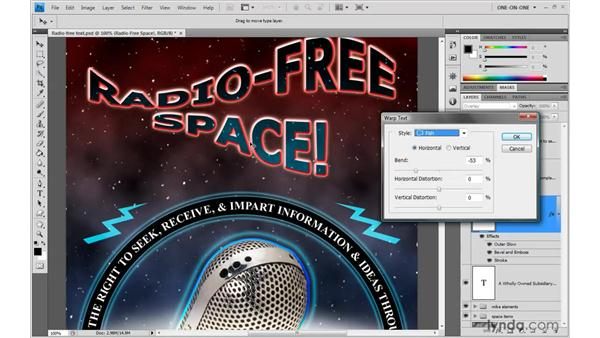 Warping text: Photoshop CS4 One-on-One: Advanced