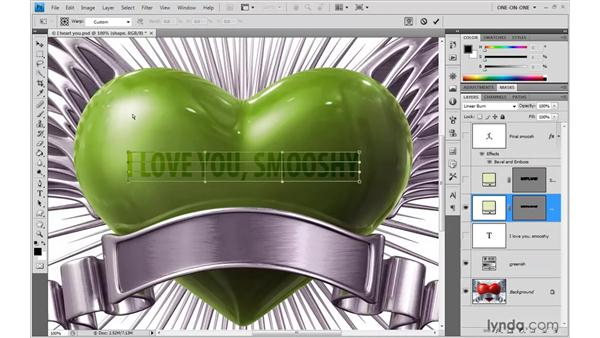 Applying a custom warp: Photoshop CS4 One-on-One: Advanced