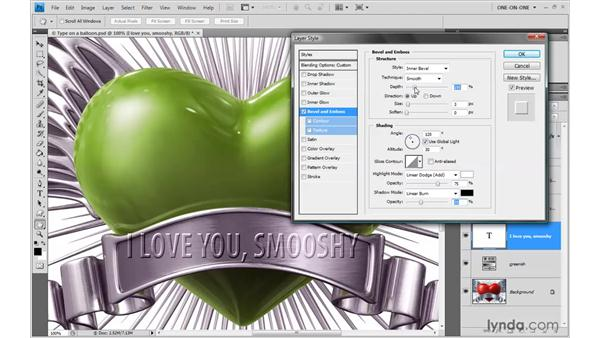Creating an engraved text effect: Photoshop CS4 One-on-One: Advanced