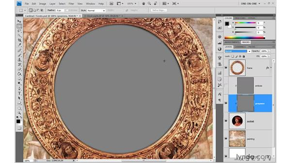 Creating a canvas texture: Photoshop CS4 One-on-One: Advanced