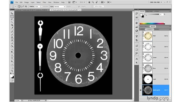 Masking objects against a white background: Photoshop CS4 One-on-One: Advanced