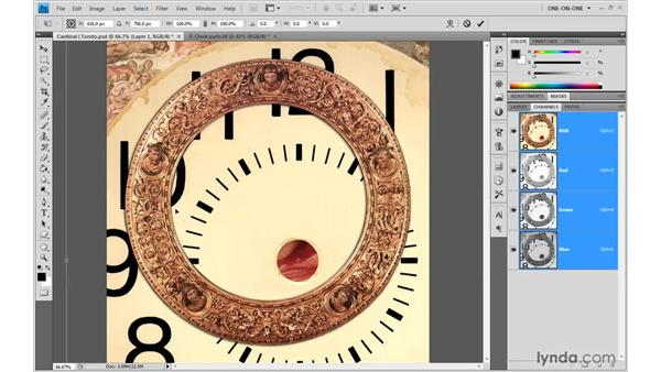 Scaling an image to fit a composition: Photoshop CS4 One-on-One: Advanced